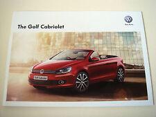 Volkswagen . Golf . Volkswagen Golf Cabriolet . December 2012 Sales Brochure