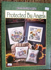 Pattern counted cross stitch Angels garden patriotic baby birth announcement New