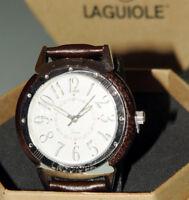 (PRL) LAGUIOLE ROUND WATCH MONTRE OROLOGIO RELOGIO LEGNO WOOD BOXED SCATOLATO