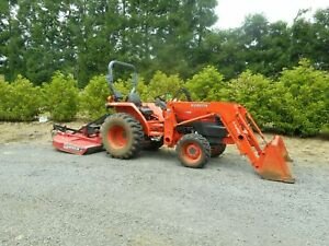 277 LOW Hours KUBOTA  L3400 HST 4WD ORCHARD TRACTOR 35 HP w/ LOADER 5 Implements