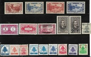 LEBANON LIBAN Small Collection, BOB, Airmails, Cedars and others Mint and Used