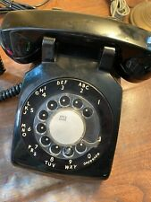 New listing Unusual Vintage Bell System Western Electric 500 Black Rotaty Desk Telephone