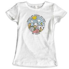 VEGAN ANIMAL FUNNY HUMOUR VEGETARIAN GIRLS WOMANS KIDS HEN DO T Shirt
