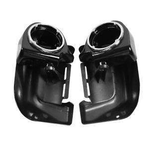 """Lower Vented Leg Fairings 6.5"""" Speaker Box Pods For Harley Touring 1983-2013 US"""