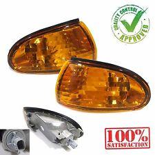 Lancer CC Evo 1 2 3 Front Amber Crystal Corner Signal lamp Lights JDM Style Pair