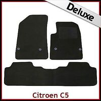 CITROEN C5 Mk2 2008-2017 Tailored LUXURY 1300g Carpet Car Floor Mats BLACK