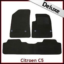 Citroen C5 Mk2 2008 onwards Tailored LUXURY 1300g Carpet Car Floor Mats BLACK
