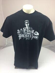 2014 Fresno Holiday jam concert souvenir T-shirt Wiz Kalifa T-Pain E-40 black XL