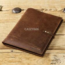 "2020 iPad Pro 12.9"" Leather Case Handmade Genuine Leather Folio Smart Cover"