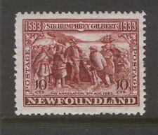 NEWFOUNDLAND 220b 1933 10c RED BROWN PERF 14.0x14.0 GILBERT ISSUE MNH CV$320