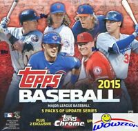 2015 Topps Chrome Update Baseball EXCLUSIVE Factory Sealed MEGA Box-Loaded!