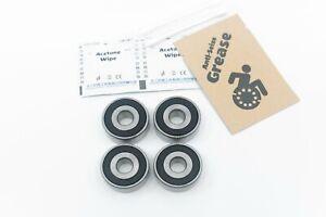 "Rear Wheel Wheelchair Bearings High Performance 1620 7/16x1-3/8x7/16"" (11x35x11m"