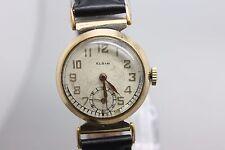 Vintage Elgin Hand Wind Gold Tone 32959659 Wristwatch Men's Watch Running