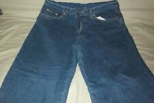 LL BEAN  Relaxed Fit Double L Red Fleece Lined Denim Blue Jeans Women's size 16R