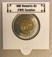 CANADA 1996 New 2 dollar TOONIE Brilliant Uncirculated (BU directly from roll)