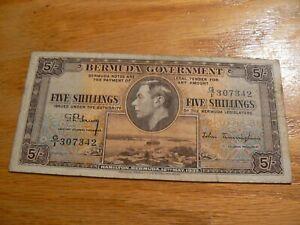 Bermuda 5 Shillings 12th May 1937 P8 G/1 Prefix (A) 100% to Charity