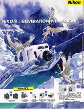 PUBLICITE ADVERTISING 045  2002  NIKON  appareil photo numérique COOLPIX 775