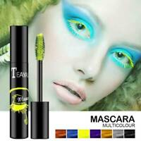 Colored Mascara Waterproof Fast Dry Blue Purple Black Curling Lengthen Eyelashes