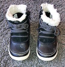 Baby Girls Snow Boots Clarks 6F Black