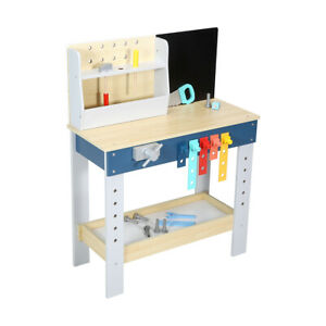 Wooden Tool Bench Playset Everything For Interactive Pretend Play Sessions FF