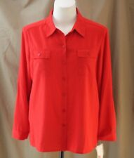 Alfred Dunner, Size 16, Uptown Girl, Red Button Front Top, New with Tags