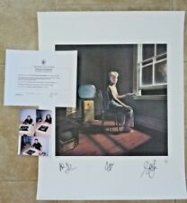 RUSH Band Signed Autographed Lithograph Poster All 3  #400 of 500 Power Windows