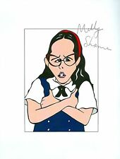 MOLLY SHANNON Glee Neighbors From Hell Hand Signed Auto 8.5x11 Cartoon Autograph