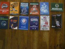 NBA G-League Basketball Assorted Lot of 12 Pocket Schedules 2018-2019 Season