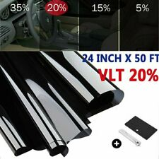 "Uncut Window Tint Roll 20% VLT 24"" 50 ft Home Office Auto Car Film Tint+Tools US"