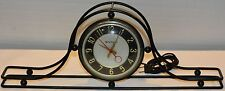 Mid Century Wired Framed Clock Mantel Black Master Crafters