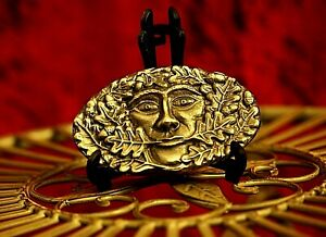 Green Man Pewter Belt Metal Buckle Hand - Crafted in the UK Boxed