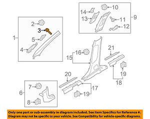 KIA OEM 16-18 Sorento Interior-Wndshld Pillar Trim Retainer 85815B1000