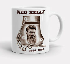 NED KELLY BUSHRANGER   MEMORIAL    1854  1880  GLENROWAN    QUALITY  11oz.  MUG