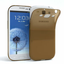 ULTRA SLIM COVER PER GALAXY s3/NEO CUSTODIA GUSCIO IN SILICONE TRASPARENTE MARRONE