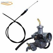Carb Carburetor & Throttle Cable For Honda Atv Atc 90 110 125 Trx125 C02220