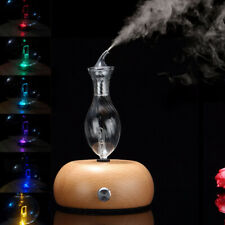 Nebulizing Pure Essential Oils Fragrances Aromatherapy Wood & Glass Diffuser Us