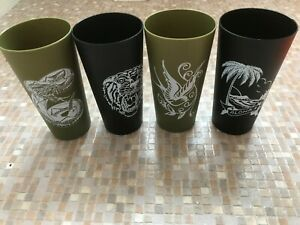 4  SAILOR JERRY RUM  ICON SERIES LIMITED EDITION CUPS