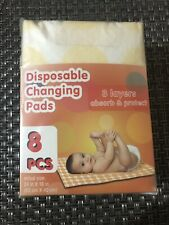 Disposable Baby Changing Pads 8 Pcs 3 Layers Absorb And Protect 24 In X 16 In