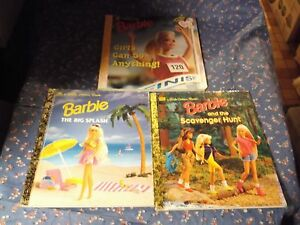 3 Barbie Golden Books The Big Splash Scavenger Hunt Girls Can Do Anything