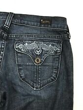 Lucky Brand USA Zoe Dark Wash Distressed Zip Fly Blue Jeans Women's Size 4/27R
