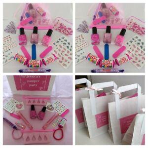Princess Parties Girls Pamper Sleepover Prefilled Bag Pink Organza Personalised