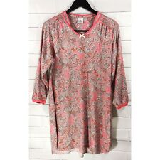 Le Chat Lingerie Pyjamas Paisley Soft Long Sleeve Pajama Top Night Dress Size 14