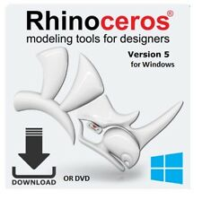 Rhino 5  by McNeel - Commercial single user 3D modeling R50 for PC