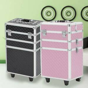 Makeup Beauty Cosmetic 3 in 1 Case Vanity Trolley Box Nail Hairdressing Storage