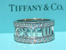 TIFFANY & CO. ATLAS DIAMOND 18K WHITE GOLD WEDDING ENGAGEMENT RING SIZE 5 NEW