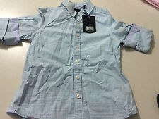 BOYS BLUE CHECKERED 'INDIE' LONG SLEEVE BUTTON-UP SHIRT. SIZE 5 BNWT (E89)