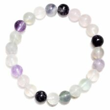 1 Premium Charged Rose Quartz Crystal 8mm Bead Bracelet Stretchy Energy Reiki