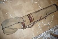Golf bag canvas & leather 1930's nice used and aged 120x17cm