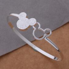 Mickey Mouse Charm Bracelet silver Pendant Beads Women&Child Jewelry New Fashion