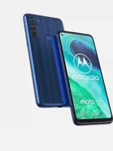 NEU Motorola Moto g8 Neon Blue 4gb + 64gb Dual SIM Andriod 10 Sim Free